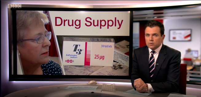 BBC South East 28 June 2018 T3 / liothyronine story in the news patient Mary Saunders had to buy her T3 from Greece
