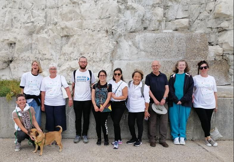 The Thyroid Trust Summer Seaside Walk participants 2019